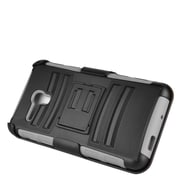 Insten Stand Dual Layer Hybrid Case with Holster For Alcatel One Touch Fierce XL - Black/Gray (2218693)