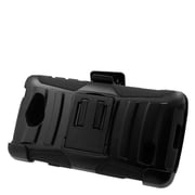 Insten Hard Dual Layer Plastic Silicone Stand Case with Holster For LG Lancet - Black