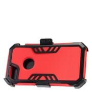 Insten Hybrid Hard Silicone Dual Layer Protective Case Cover + Holster Clip For Apple iPhone 7 - Red/Black