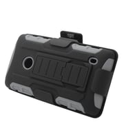 Insten Car Armor Hard Hybrid Plastic Silicone Stand Case with Holster For Nokia Lumia 520 - Black/Gray