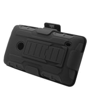 Insten Car Armor Hard Hybrid Plastic Silicone Stand Case with Holster For Nokia Lumia 520 - Black