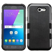 Insten Carbon Fiber/Black TUFF Hybrid Case [Military-Grade Certified] For Samsung Galaxy Express Prime 2 / J3 (2017)