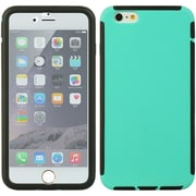 Insten Full Protection Trim TPU Rubber Skin Gel Case For Apple iPhone 6s Plus / 6 Plus - Teal