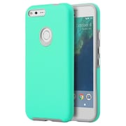 Insten Hard Hybrid TPU Cover Case For Google Pixel - Teal/Gray