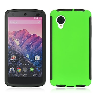 Insten full Protection Hybrid Hard TPU Dual Layer Cover Case Trim For LG Google Nexus 5 D820 - Green