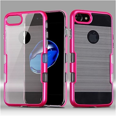 Insten Hard Dual Layer Hybrid TPU Case For Apple iPhone 7 - Hot Pink