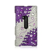 Insten For Nokia Lumia 920 Full Diamond Case Purple Silver