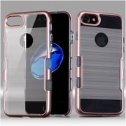 Insten Hard Hybrid Dual Layer TPU Case For Apple iPhone 7/ 8, Rose Gold
