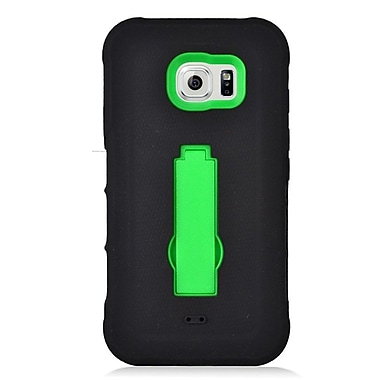 Insten Symbiosis Armor Hybrid Hard Stand Shockproof Case Back Cover For Samsung Galaxy S7 Active - Black/Green