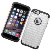 Insten Hard Hybrid Rubber Silicone Case For Apple iPhone 6/6s - Black/Silver