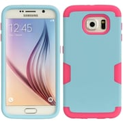 Insten Shield Series Hybrid Hard TPU Dual Layer Shockproof Case For Samsung Galaxy S6 - Blue/Hot Pink