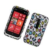 Insten Leopard Hard Rubber Case For Nokia Lumia 822 - Multi-Color