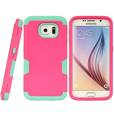 Insten Shield Series Hybrid Hard TPU Dual Layer Shockproof Case For Samsung Galaxy S6 - Hot Pink/Teal