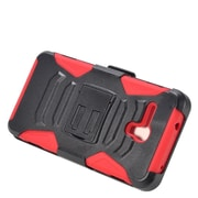 Insten Stand Dual Layer Hybrid Case with Holster For Alcatel One Touch Fierce XL - Black/Red