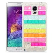Insten Checker Hard Diamante Cover Case For Samsung Galaxy Note 4 - Colorful