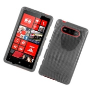 Insten Carbon Fiber Hard Cover Case For Nokia Lumia 820 - Dark Gray