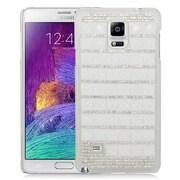 Insten Checker Hard Bling Case For Samsung Galaxy Note 4 - Silver