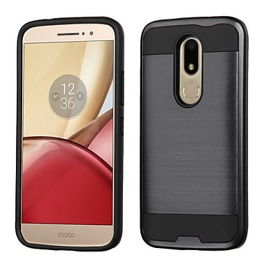 Insten Hard Dual Layer TPU Case For Motorola Moto M - Black