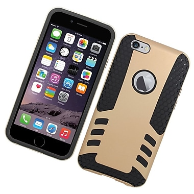 Insten Hard Hybrid Rubber Coated Silicone Cover Case For Apple iPhone 6/6s - Gold/Black