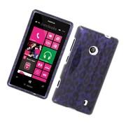 Insten Leopard Hard Case For Nokia Lumia 521 - Purple