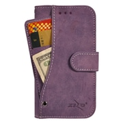 Insten Book-Style Leather Fabric Cover Case Pocket wallet w/card slot For Huawei Union - Purple