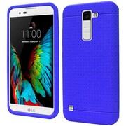 Insten Rugged Rubber Case For LG K10 - Blue