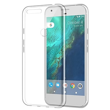 Insten Rubber Cover Case For Google Pixel XL - Clear