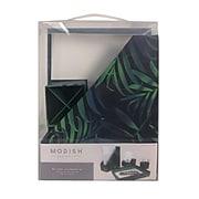 Modish Tropical Cardboard Desk Accessory Set, Midnight Palm, 4/Set (MOD11730)