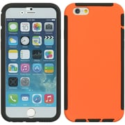 Insten Full Protection Trim TPU Rubber Skin Gel Case For Apple iPhone 6 / 6s - Orange