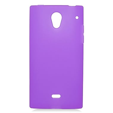 Insten Rubber Gel Skin Cover Case For Sharp Aquos Crystal - Purple
