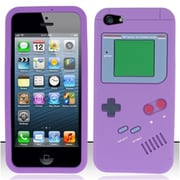 Insten Purple Gameboy Silicone Soft Skin Case Cover For Apple iPhone SE 5