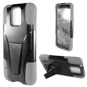 Insten Hard Dual Layer Plastic Silicone Cover Case w/stand For Samsung Galaxy S5 Mini - Black/Gray
