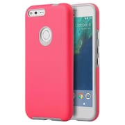 Insten Hard Dual Layer TPU Case For Google Pixel - Hot Pink/Gray