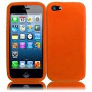 Insten For Apple iPhone SE 5S 5 Soft Silicone Rubber Gel Soft Case - Orange