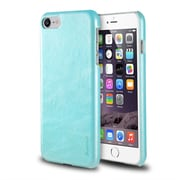 iPhone 7 Case, by Insten Ultra Slim Rear Leather Hard Shell Protective Case for Apple iPhone 7 - Light Blue
