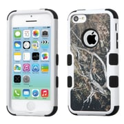Insten Tuff Vines Hard Hybrid Rubber Coated Silicone Cover Case For Apple iPhone 5C - Yellow/Black