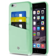"Cobble Pro For iPhone 6s Plus / 6 Plus 5.5"" PU Leather Designer Wallet Case Cover - Mint Green"
