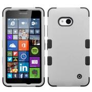 Insten Tuff Hard Hybrid Rubberized Silicone Cover Case For Microsoft Lumia 640(Metro PCS)/640(T-mobile) - Gray/Black