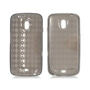 Insten Checker Rubber Clear Case For Samsung Galaxy Nexus Prime i515 - Smoke