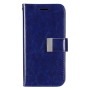 Insten Flip Leather Case w/card holder/Photo Display For Samsung Galaxy S7 Edge - Dark Blue