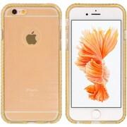 Insten Diamond Surrounded Bling Border TPU Rubber Skin Case For Apple iPhone 6 / 6s - Gold