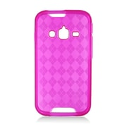 Insten Checker TPU Clear Case For Samsung Galaxy Rugby Pro - Hot Pink