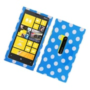 Insten Polka Dots Hard Plastic Case For Nokia Lumia 920 - Blue/White
