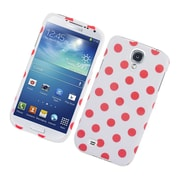 Insten Polka Dots Hard Plastic Case For Samsung Galaxy S4 - White/Pink