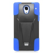 Insten Hard Hybrid Plastic Silicone Case with stand For Sharp Aquos Crystal - Blue