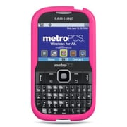 Insten Premium TPU Rubber Skin Gel Back Shell Case Cover For Samsung Freeform III R380 - Hot Pink