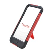 Insten Hard Hybrid Plastic Silicone Case with stand for iPod Touch 5th Gen - Red/Black