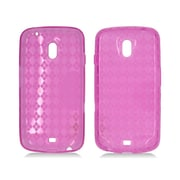 Insten Checker Rubber Transparent Cover Case For Samsung Galaxy Nexus Prime i515 - Hot Pink