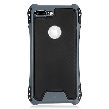 Insten Slim Dual Layer Hybrid PC/TPU Rubber Case Cover for Apple iPhone 7 Plus - Black/Blue