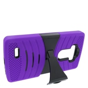 Insten Wave Symbiosis Dual Layer Hybrid Case with stand For LG G4 - Purple/Black